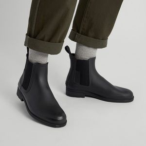 Men's black Hunter boots